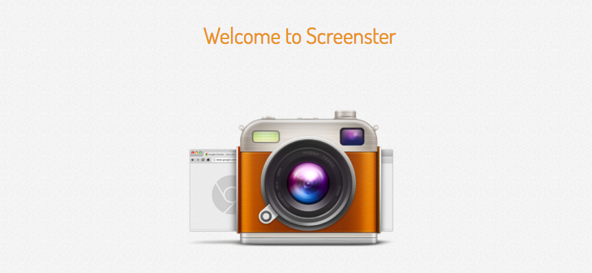 Screenster welcome page